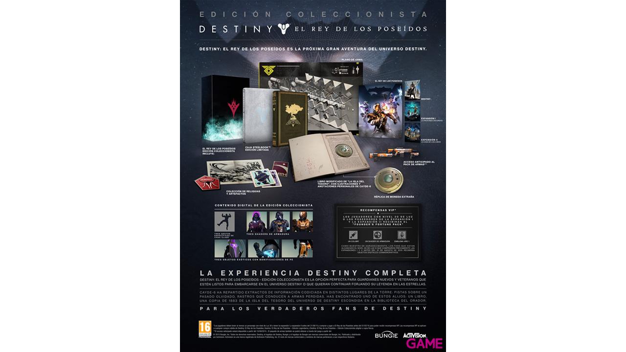 Destiny: El Rey de los Poseídos Ed. Coleccionista