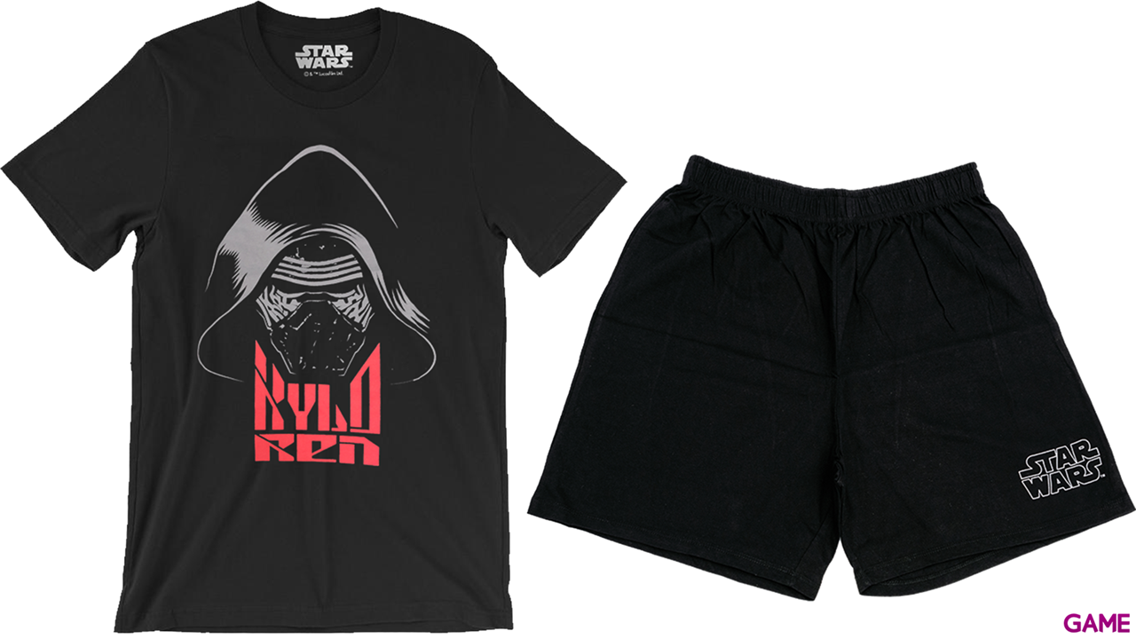 Pijama Corto 2 Piezas Star Wars Kylo Ren Nombre L