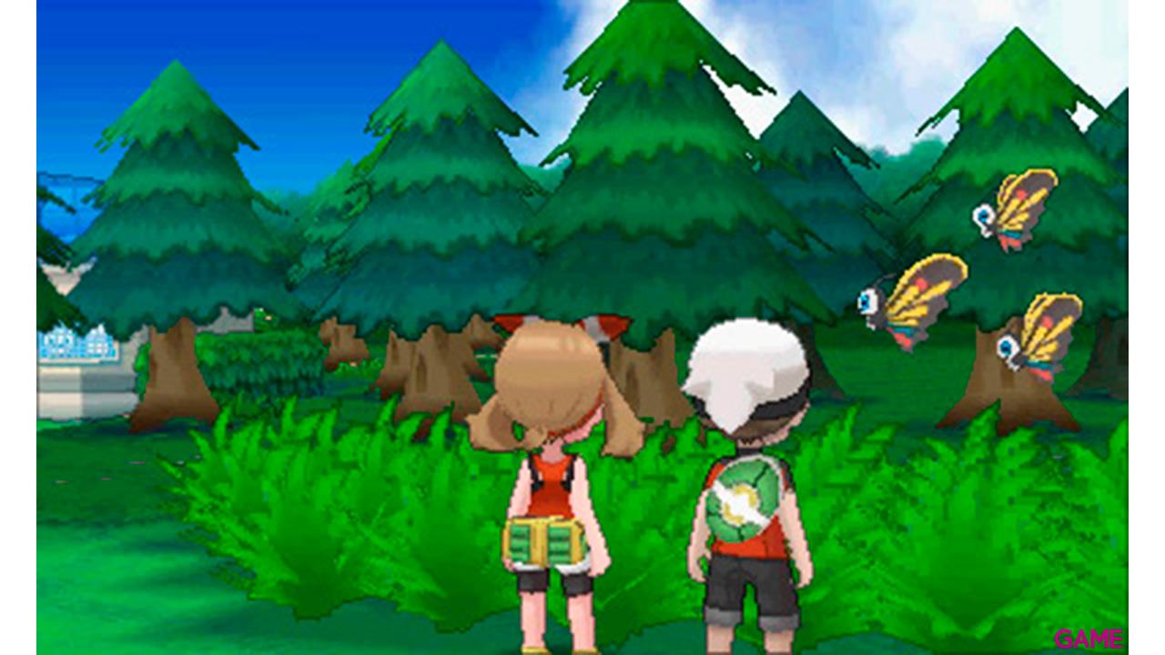 3DS Pokémon Omega Rubí + Pokéball + Poster