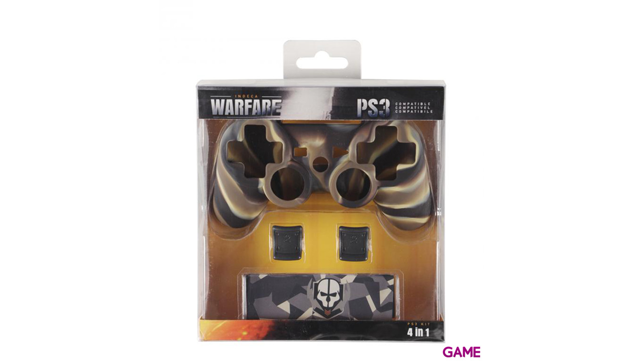 Kit 4 Accesorios para Controller PS3 Indeca Warfare 2016