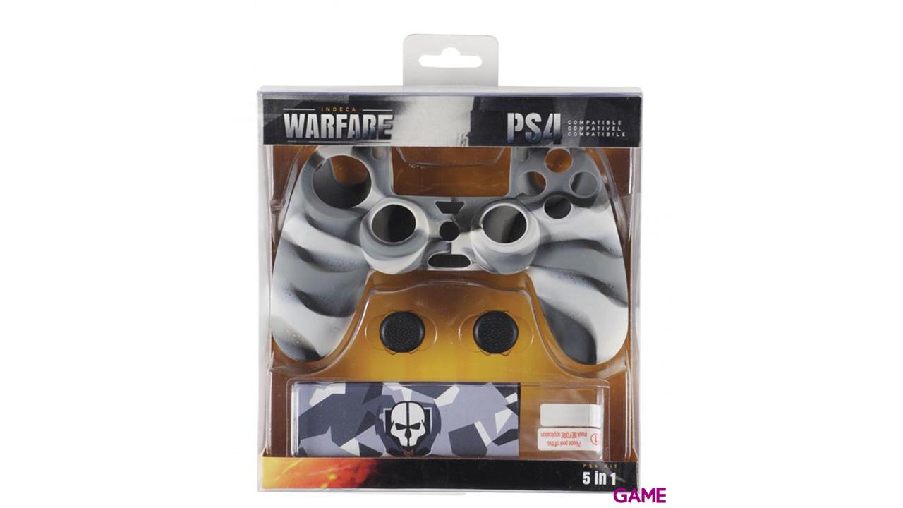 Kit 5 Accesorios para Controller PS4 Indeca Warfare 2016