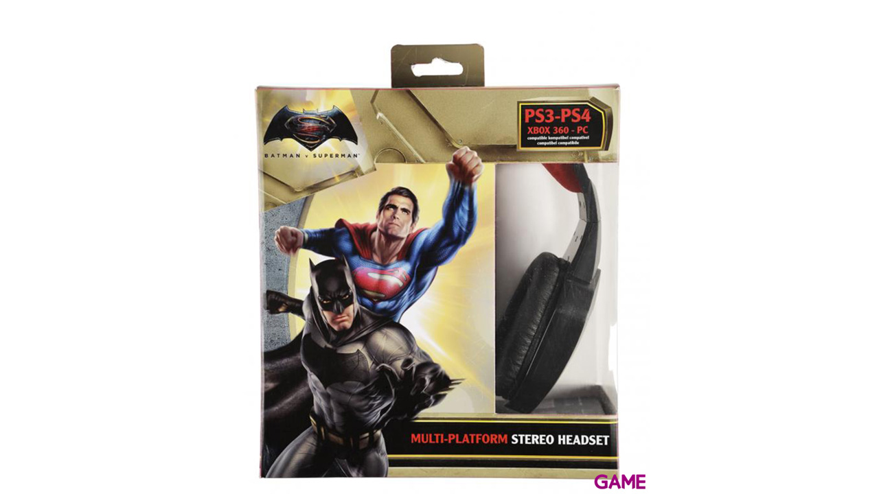Auricular Batman vs Superman PS3-PS4-X360-PC