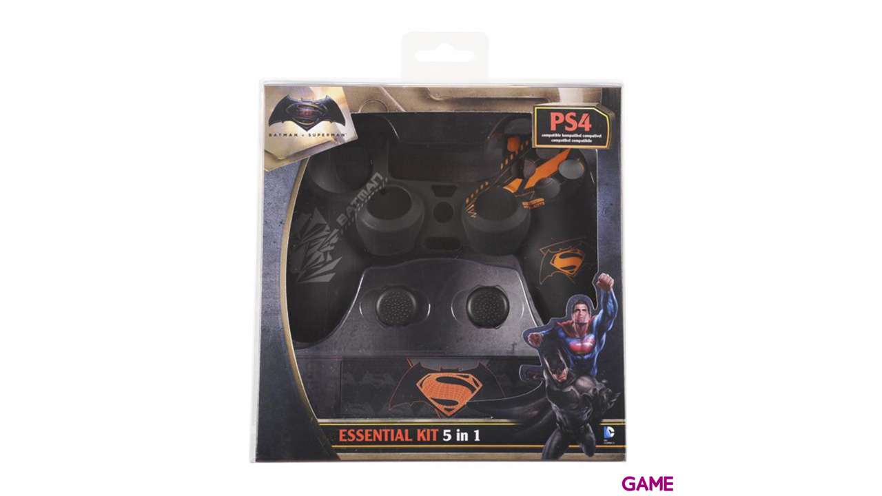 Kit 5 Accesorios para Controller PS4 Batman vs Superman