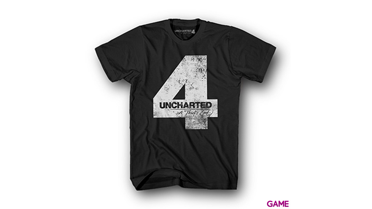 Camiseta Uncharted 4 Negra Four Talla S