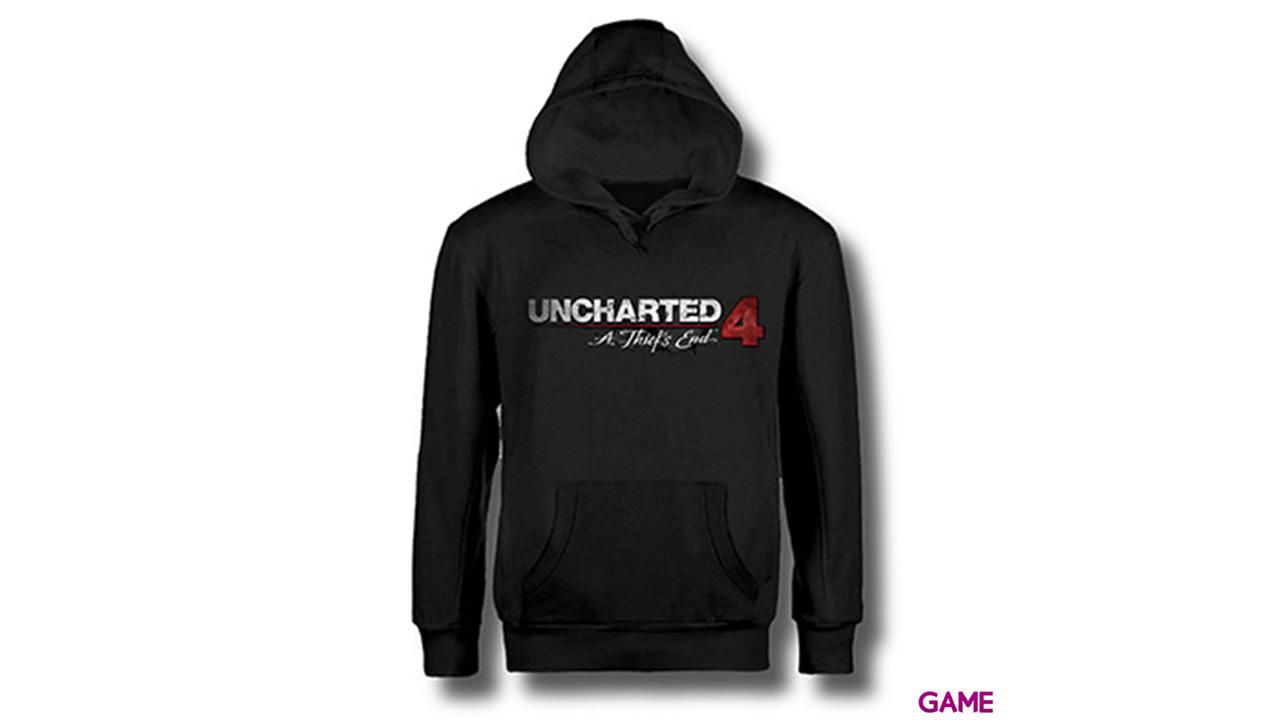 Sudadera Uncharted 4 Negra Logo Talla M