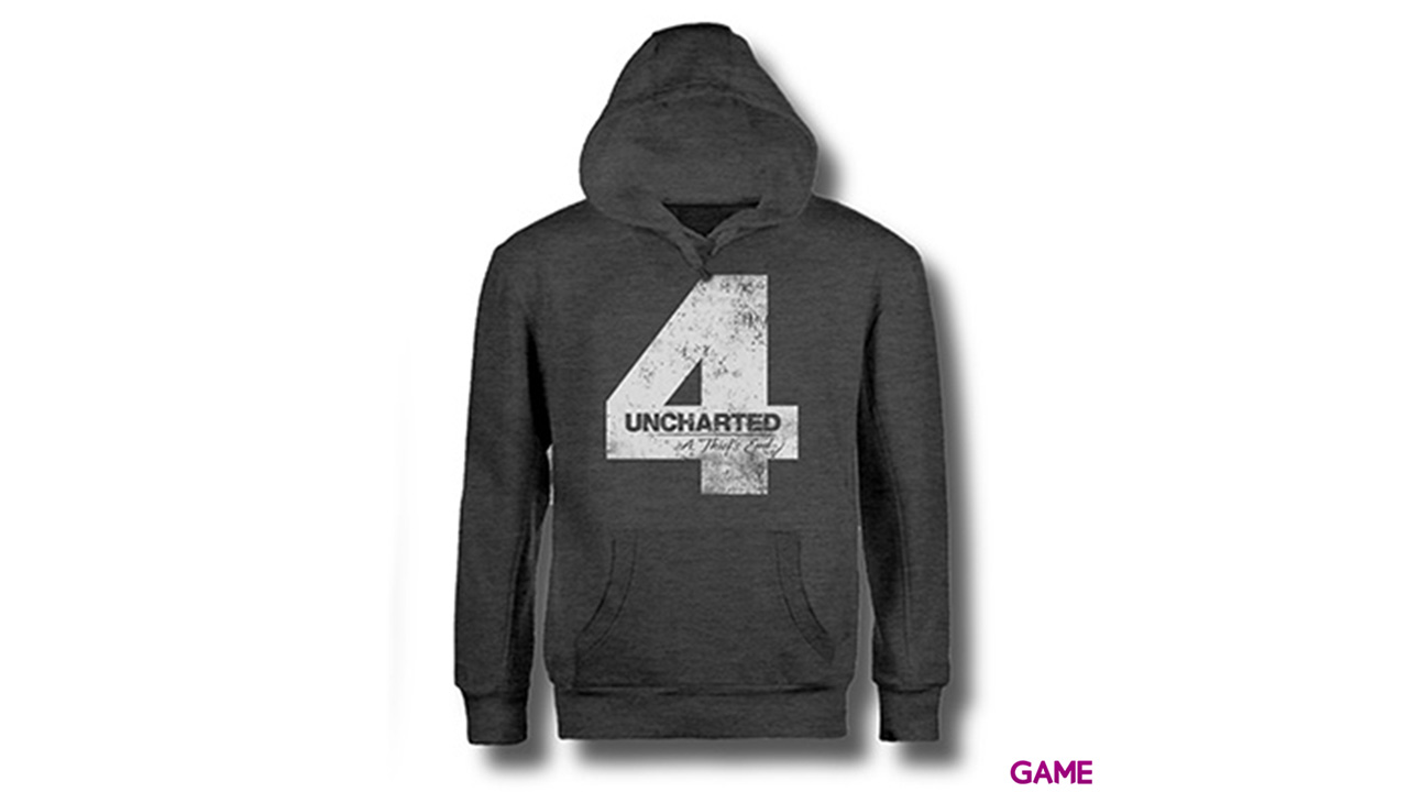 Sudadera Uncharted 4 Gris Four Talla S