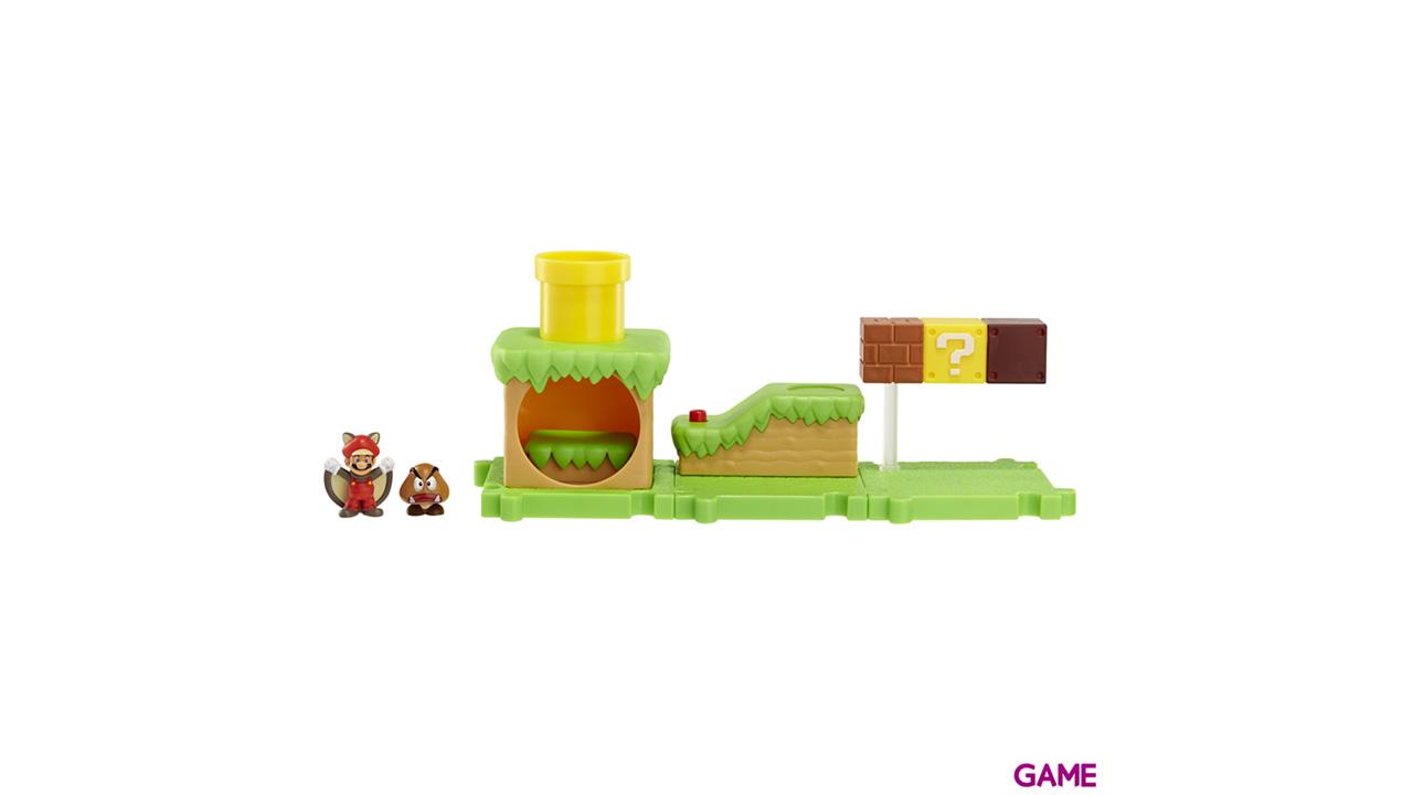 Microplayset Nintendo: Acorn Plains con Mario Ardilla Voladora
