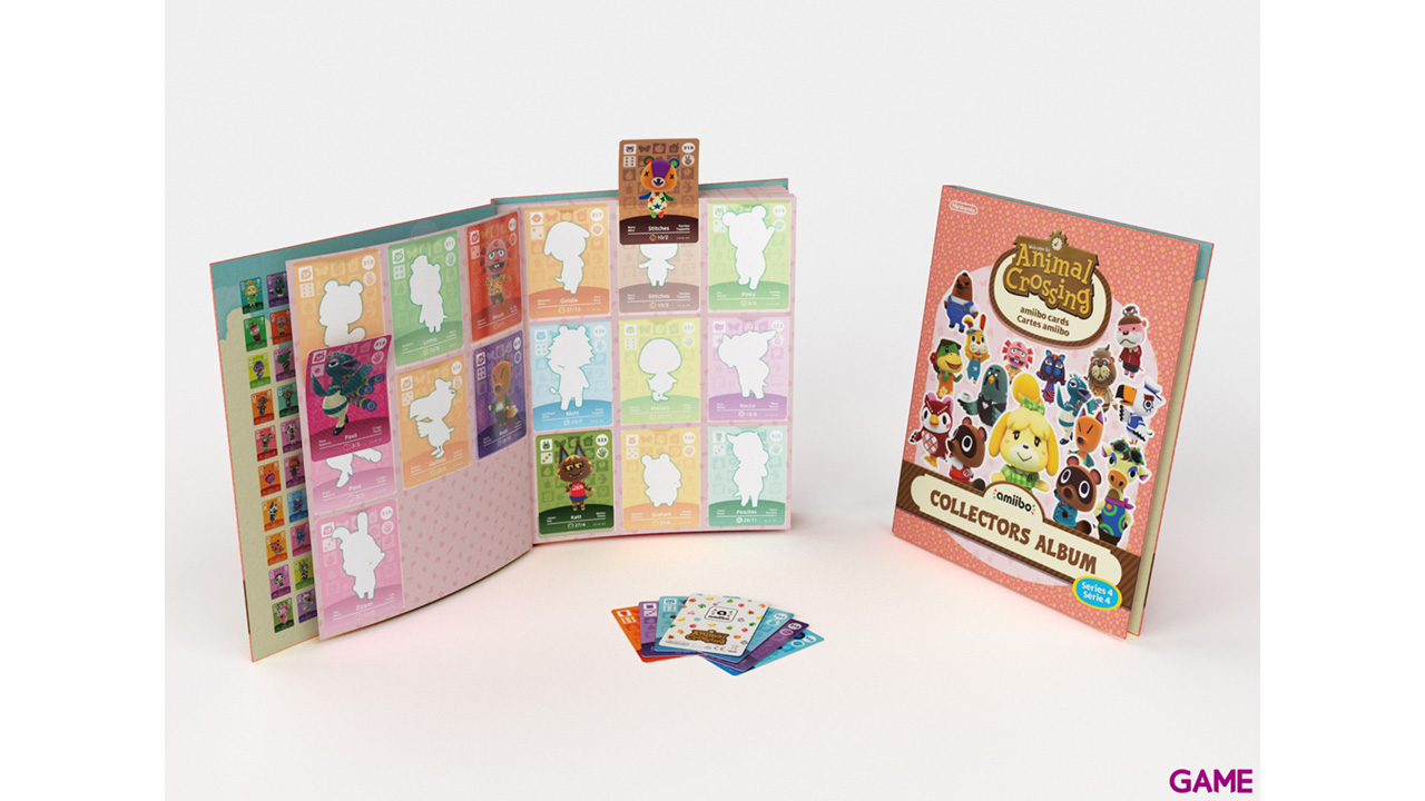 Pack 3 Tarjetas amiibo Animal Crossing HHD + Album  - Serie 4