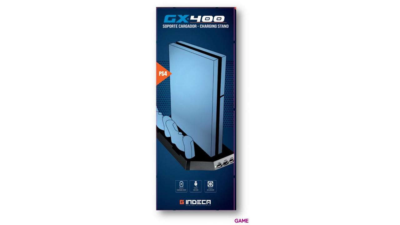 Soporte Cargador PS4 Indeca GX400