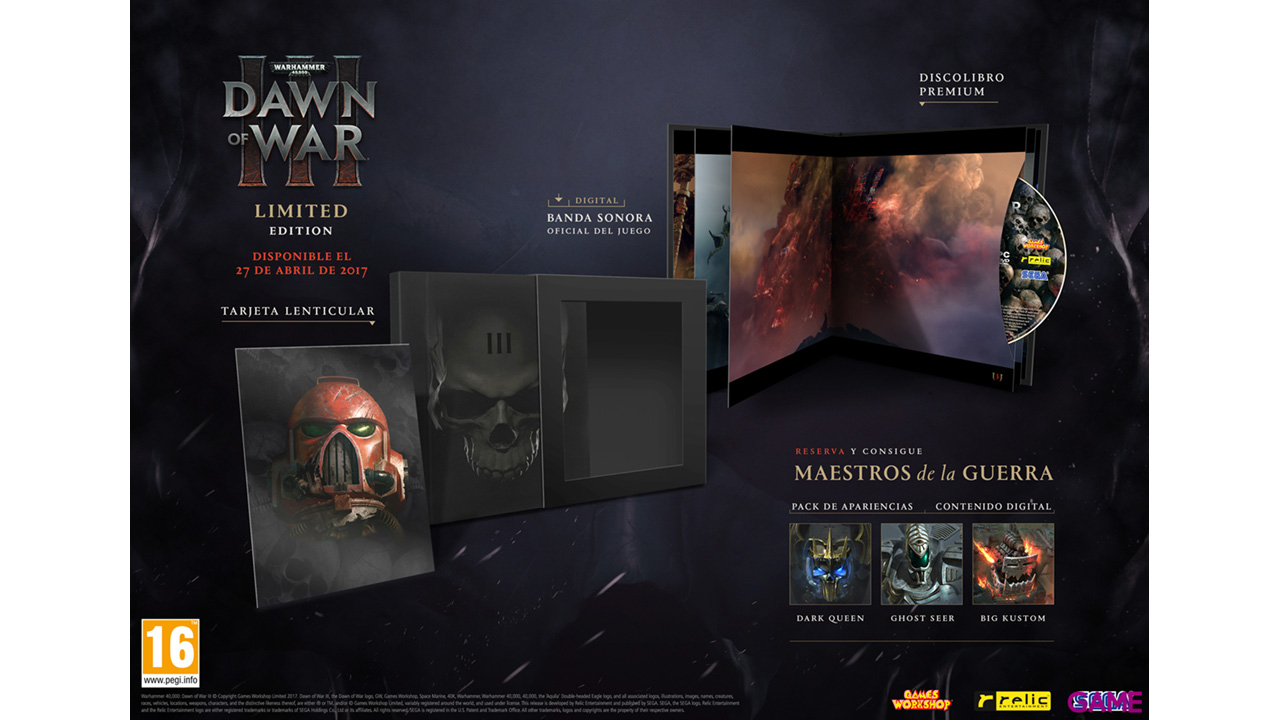 Warhammer 40.000: Dawn of War III Limited Edition