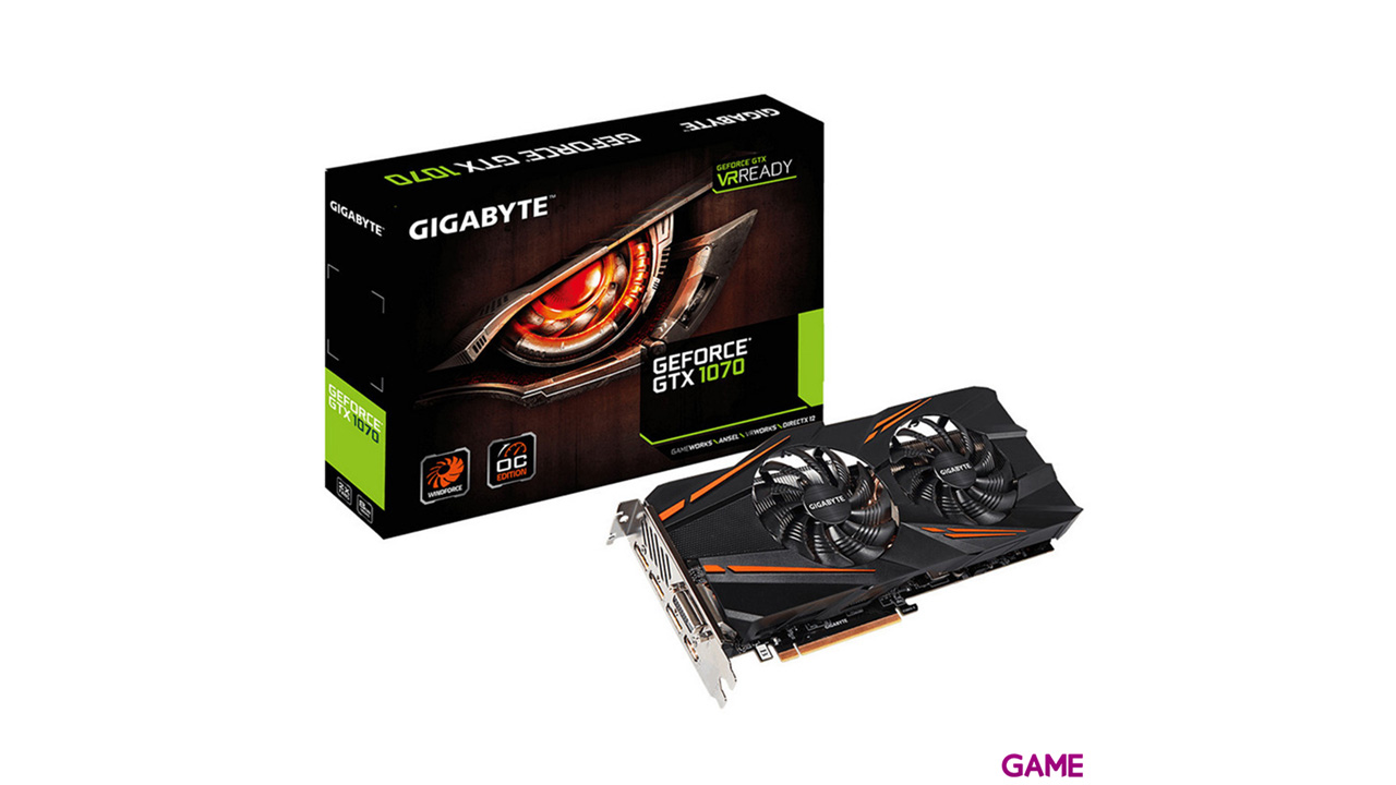 Gigabyte GeForce GTX 1070 Windforce OC 8GB