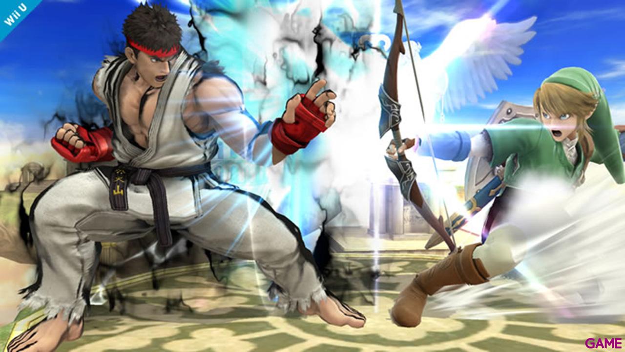 Super Smash Bros Luchador Ryu & Escenario Suzaku Castle - Wii U