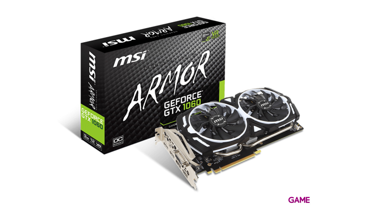MSI Armor OCV1 GeForce GTX 1060 3G