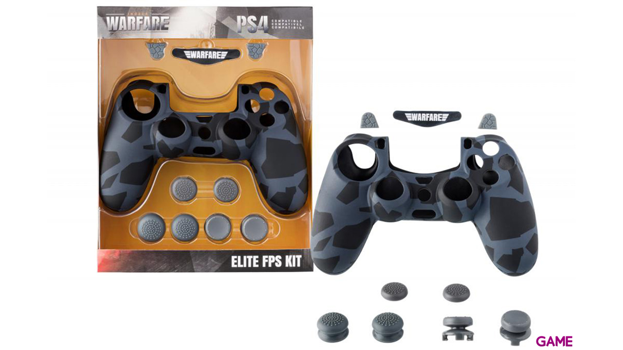 Kit 10 Accesorios mando PS4 Indeca Warfare Elite FPS