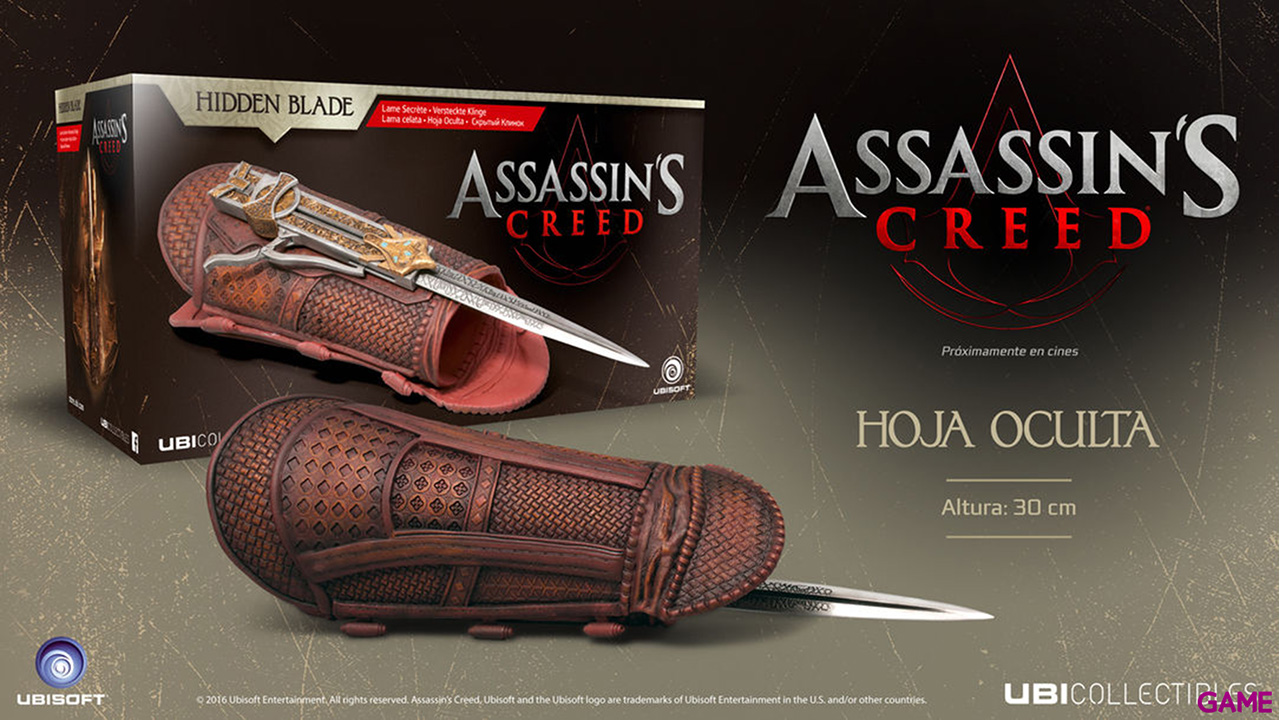 Assassin's Creed Movie - Aguilar's Hidden Blade replica Life-size