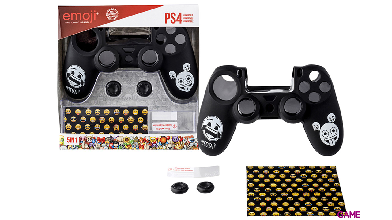 Kit 5 Accesorios Mando Ps4 Emoji Playstation 4 Game Es