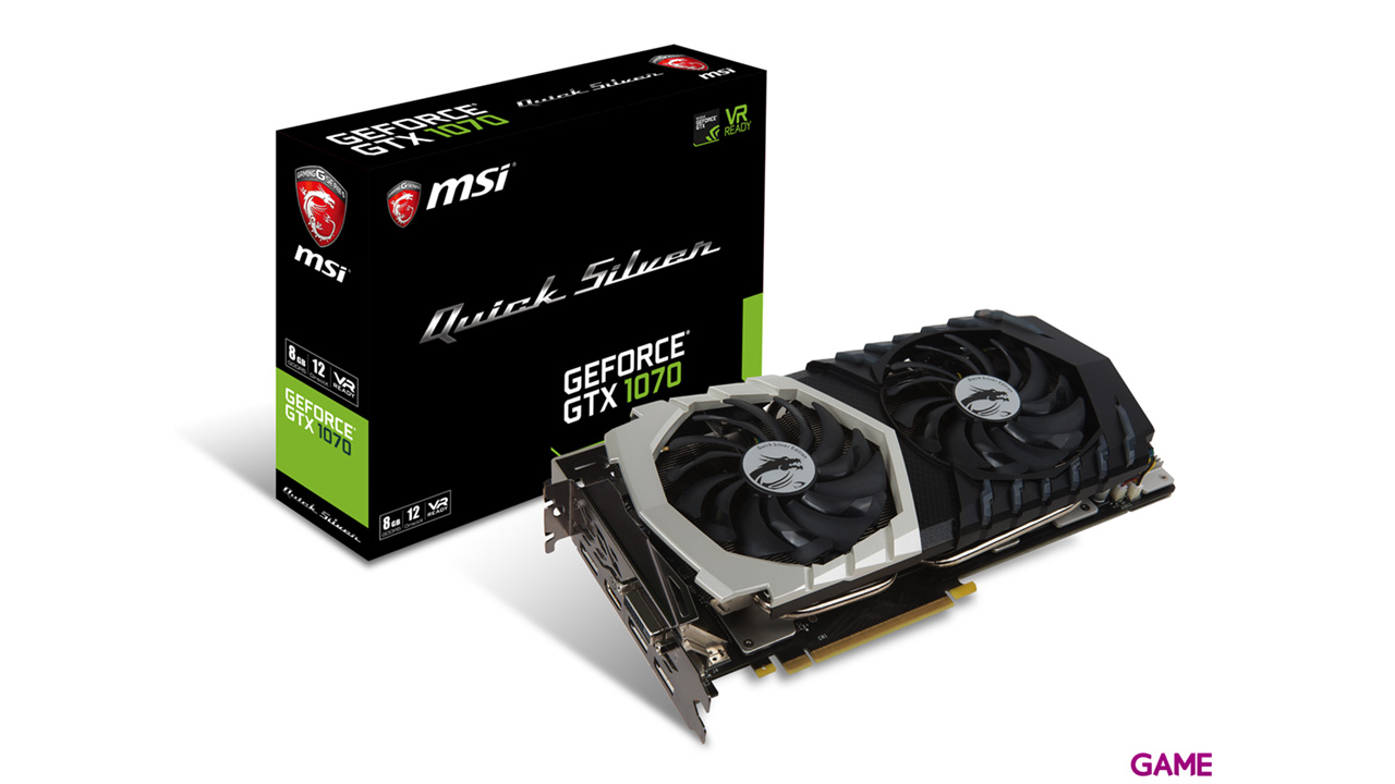 MSI GeForce GTX 1070 Quicksilver 8GB