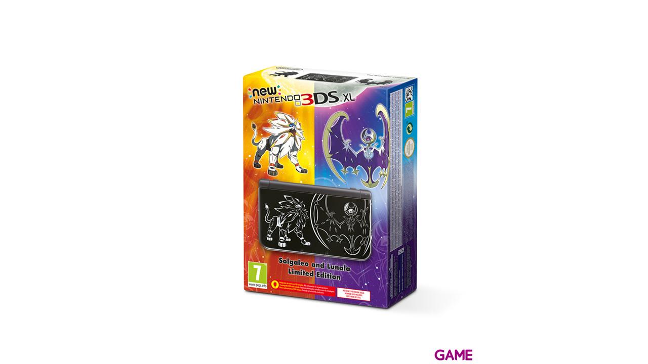 New Nintendo 3DS XL Negra Edición Pokémon Sol y Luna