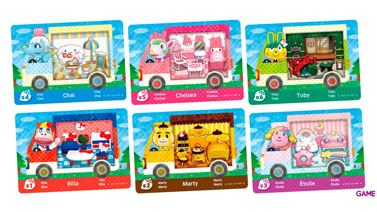 Pack 6 Tarjetas amiibo Animal Crossing - Hello Kitty