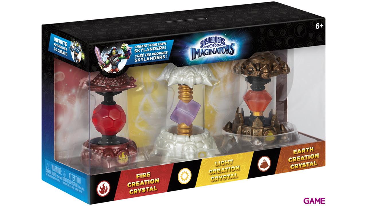 Pack Skylanders Imaginators 3 Cristales: Tierra - Luz - Fuego