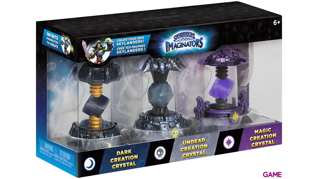 Pack Skylanders Imaginators 3 Cristales: Oscuridad - Magia - Muertos