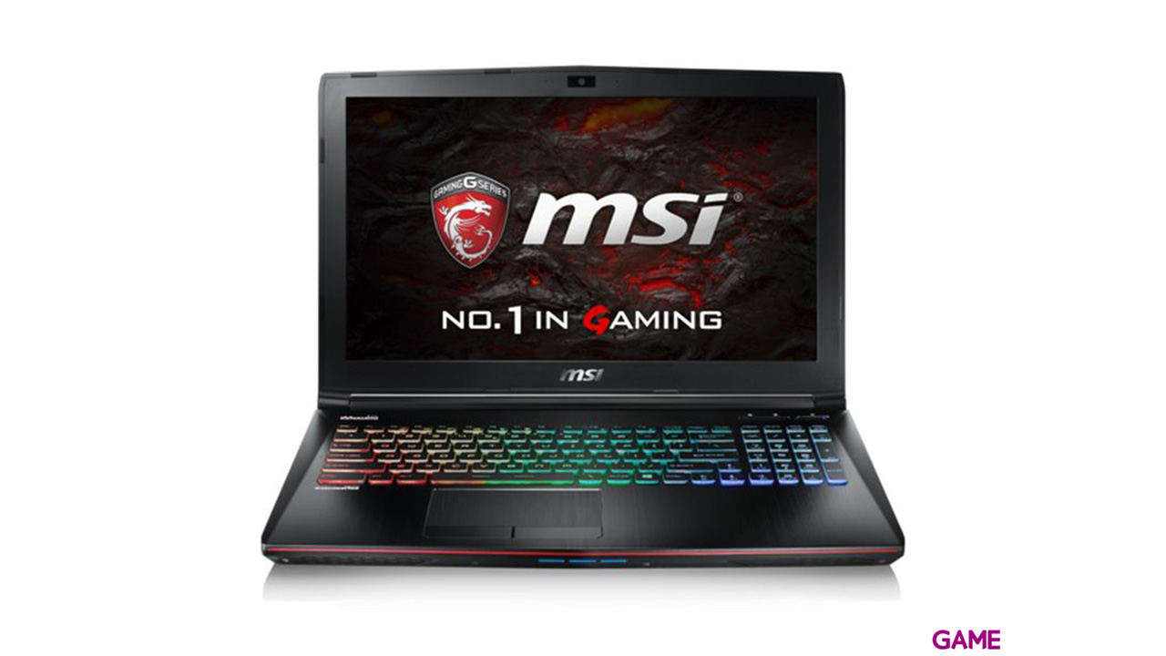 MSI GE62 7RD-219XES - i7-7700 - GTX 1050 - 16GB - 1TB HDD + 256GB SSD - 15.6'' - FreeDOS
