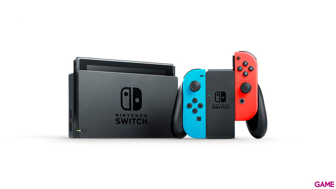 Nintendo Switch Azul Neon Rojo Neon