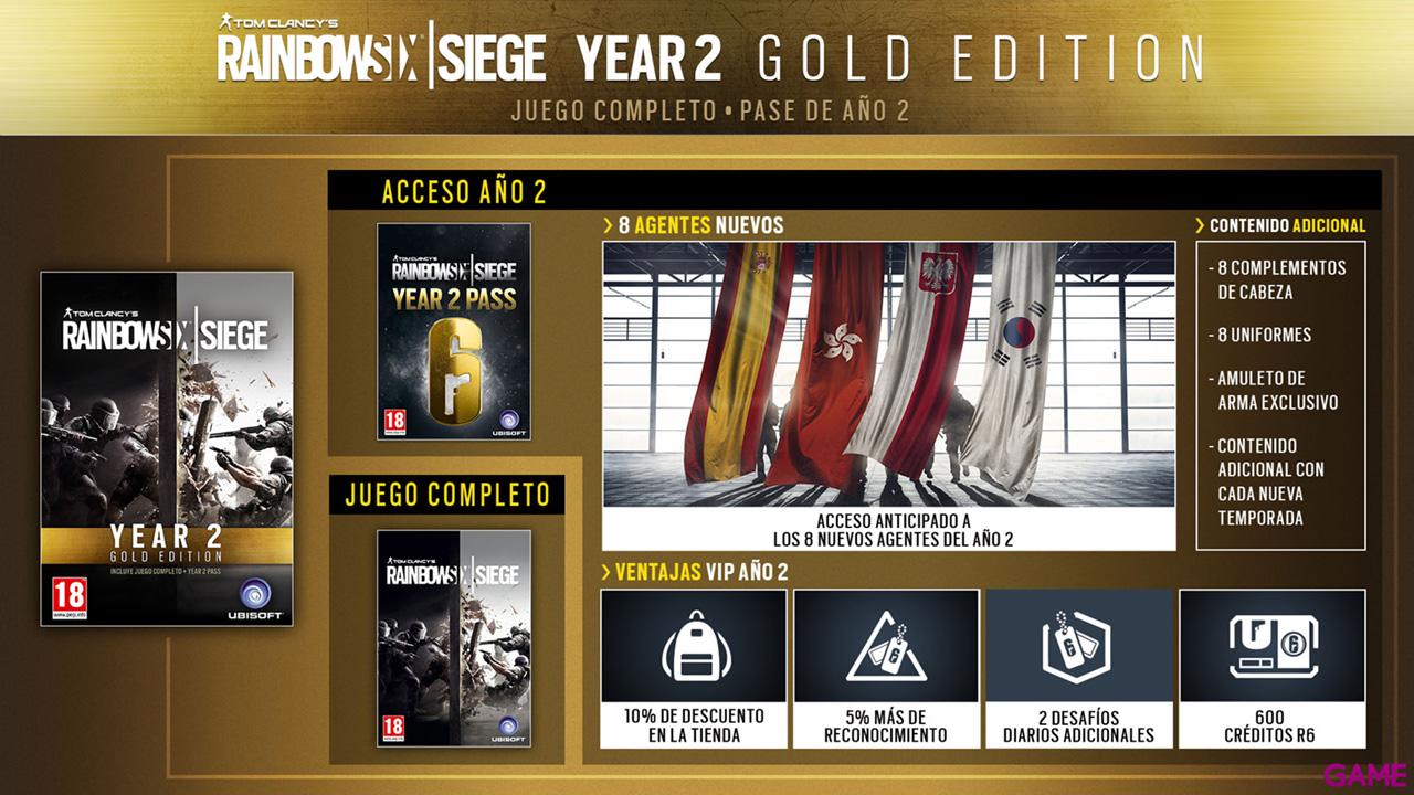 Rainbow Six Siege Gold Season 2