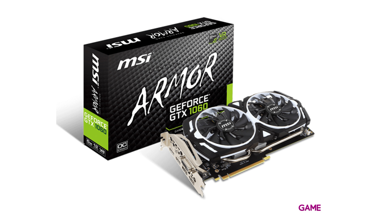 MSI GeForce GTX 1060 Armor OCV1 6GB