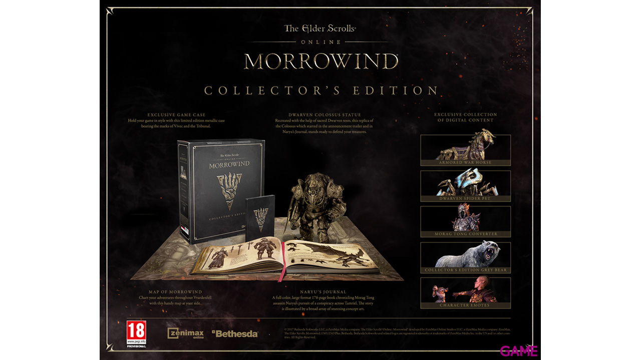The Elder Scrolls Online: Morrowind Edic. Coleccionista