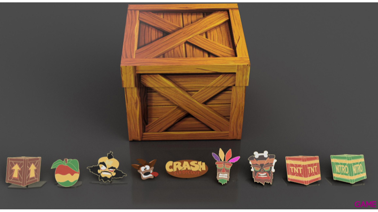 Set de Pins Crash Bandicoot