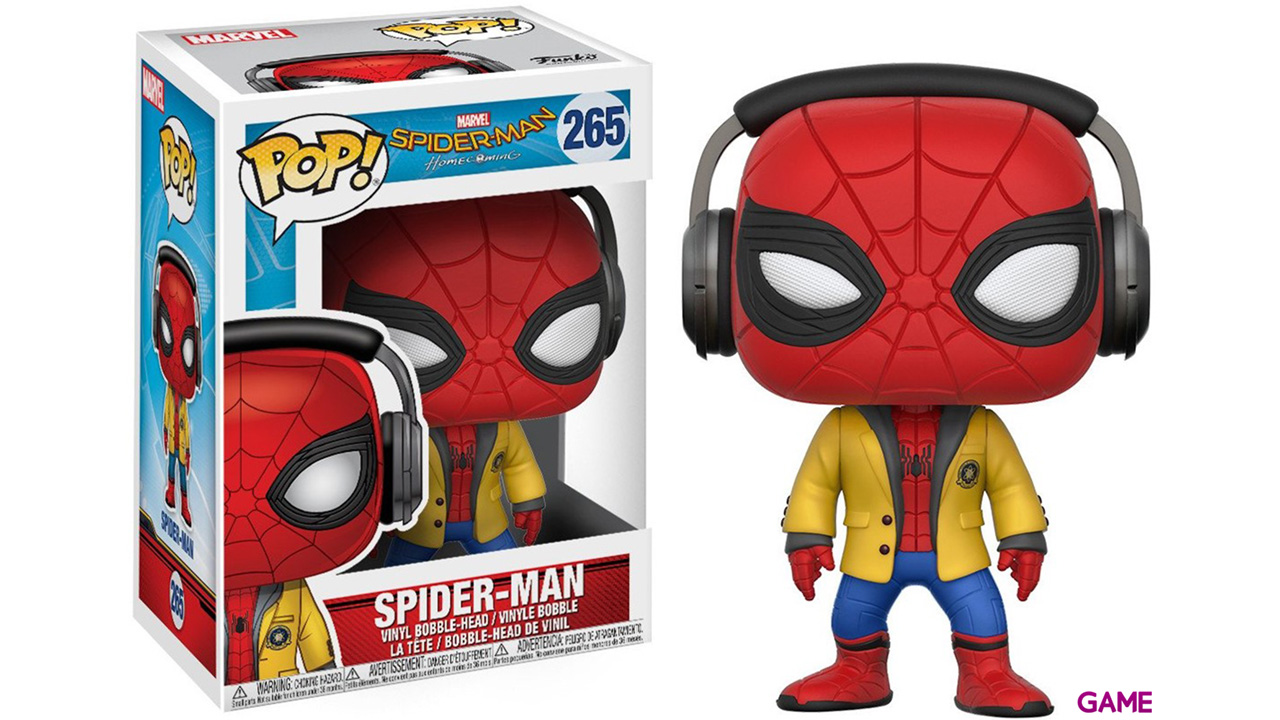 Figura Pop Spiderman Homecoming: Spiderman con Auriculares