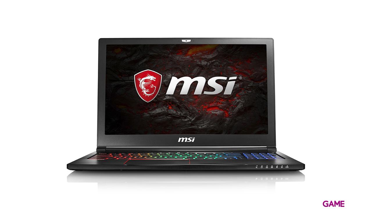 MSI GS63 7RE-026XES - i7-7700 - GTX 1050Ti - 16GB - 1TB HDD + 256GB SSD - 15.6'' - FreeDOS - Stealth Pro