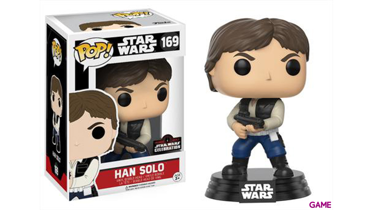 Figura Pop Star Wars Celebration: Han Solo