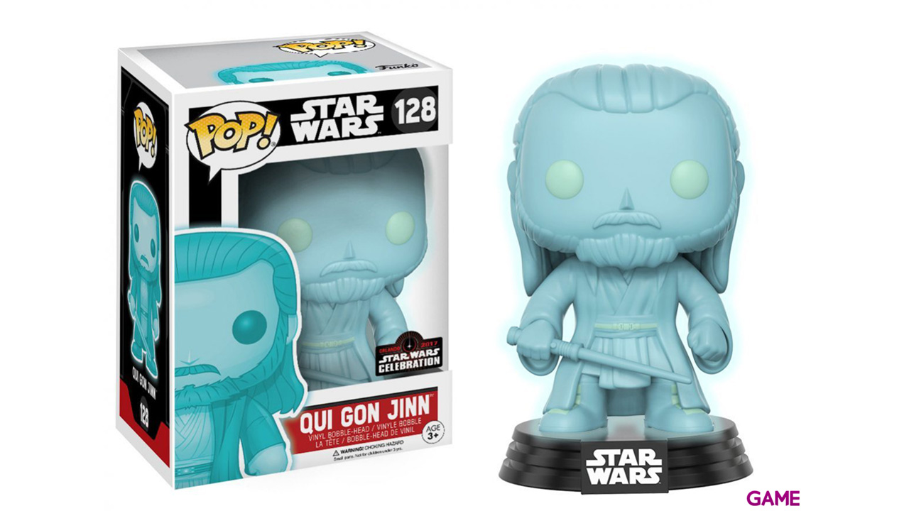 Figura Pop Star Wars Celebration: Qui- Gon Jinn Holograma