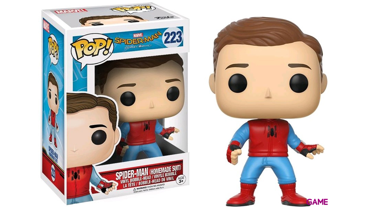 Figura Pop Spiderman Homecoming: Spiderman Homemade Ed. Limitada