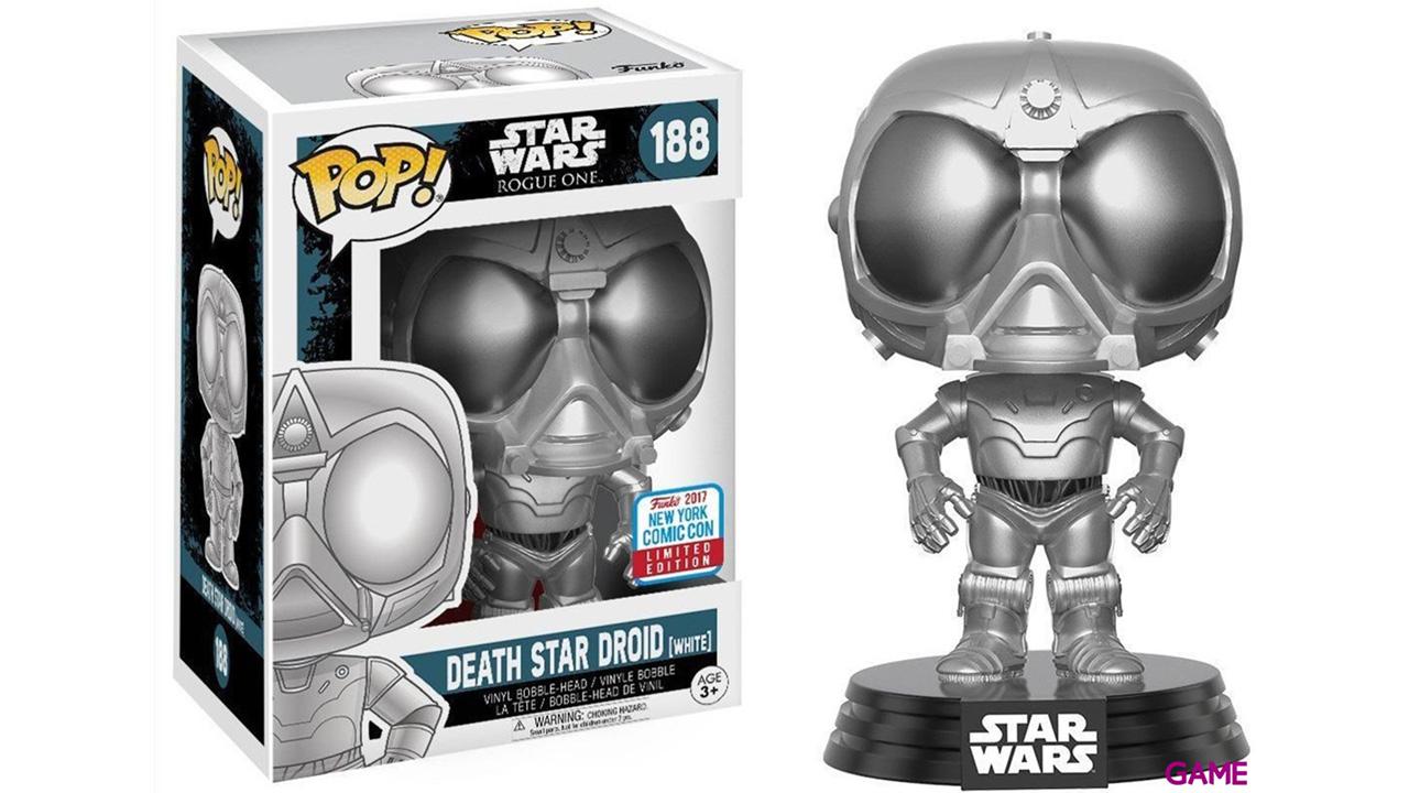 Figura Pop Star Wars Rogue One: Death Star Droid Chrome