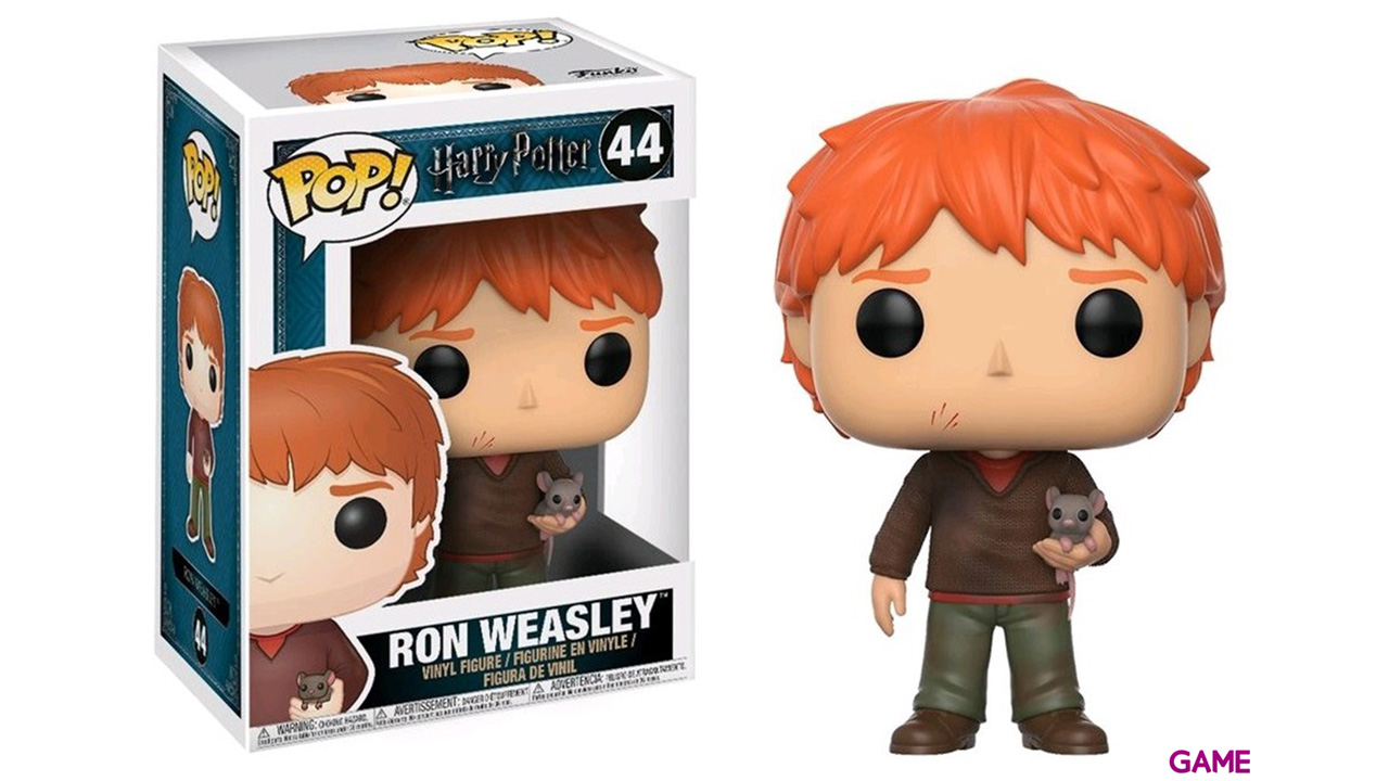 Figura Pop Harry Potter: Ron Weasley con Scabbers