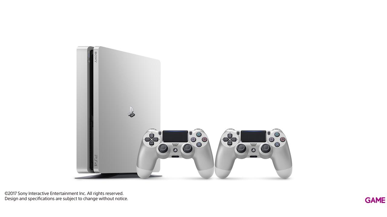 Playstation 4 Slim 500Gb Silver + 2 Dualshock 4 V2
