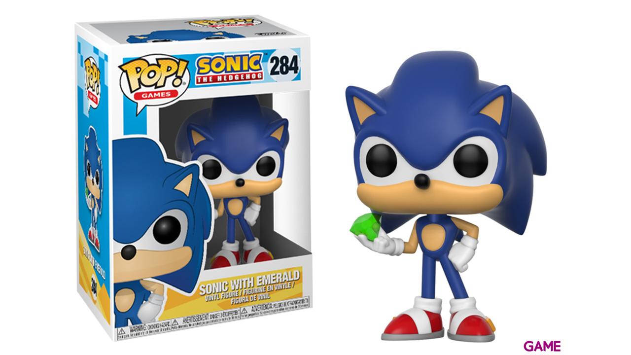 Figura Pop Sonic: Sonic con Esmeralda