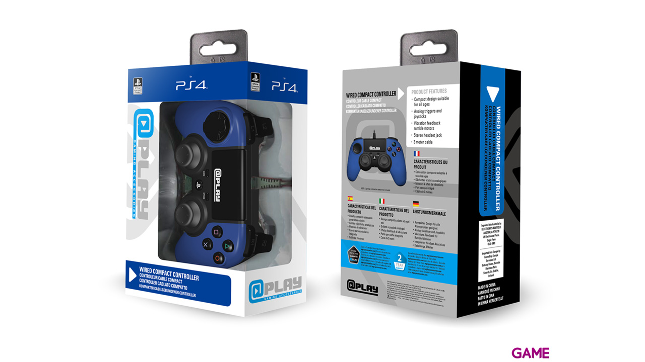Controller Playstation 4 Azul At Play -Licencia Oficial Sony-