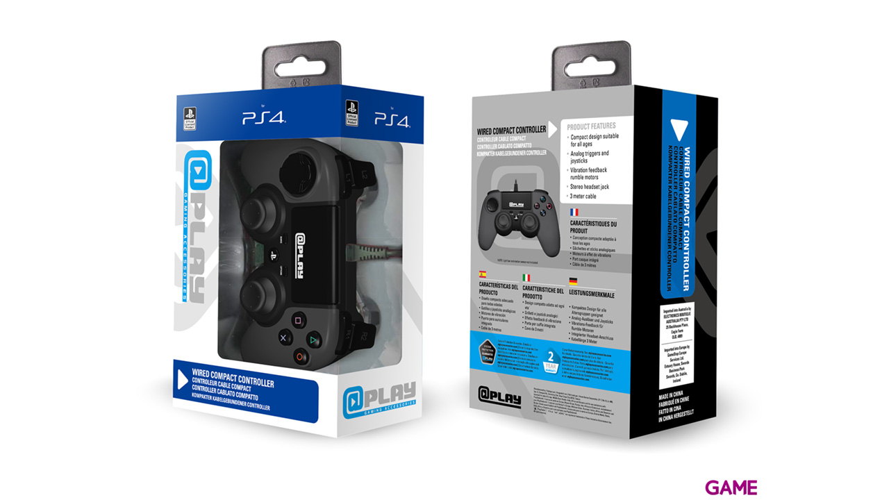 Controller Playstation 4 Negro At Play -Licencia Oficial Sony-
