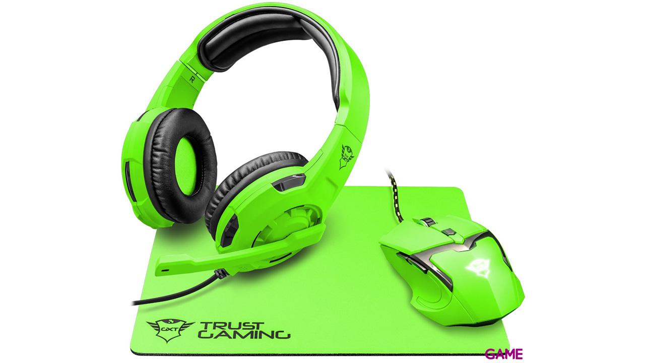Trust GXT 790 Spectra Gaming Bundle Verde - Pack Gaming