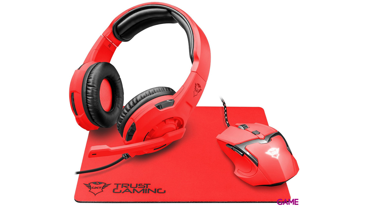 Trust GXT 790 Spectra Gaming Bundle Rojo - Pack Gaming