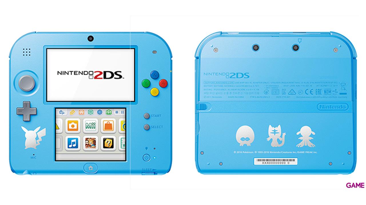 Nintendo 2DS Azul Pokemon Sol-Luna