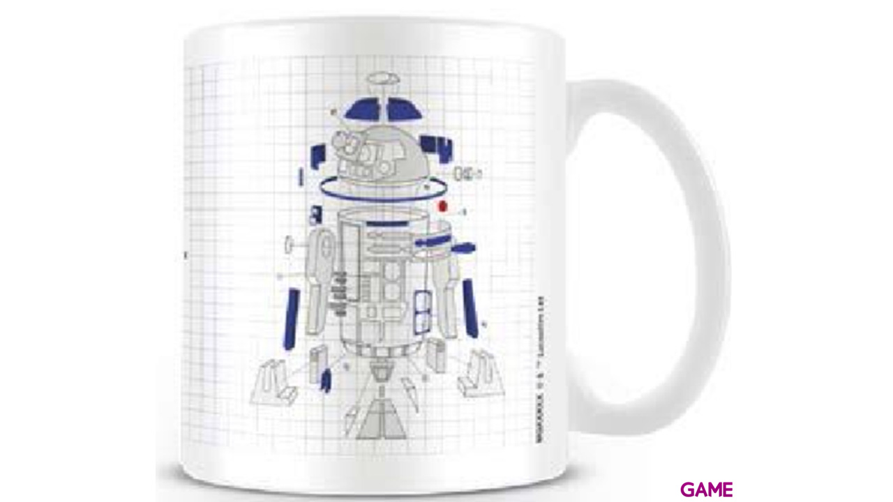 Taza Star Wars: R2-D2 Exploded 320ml