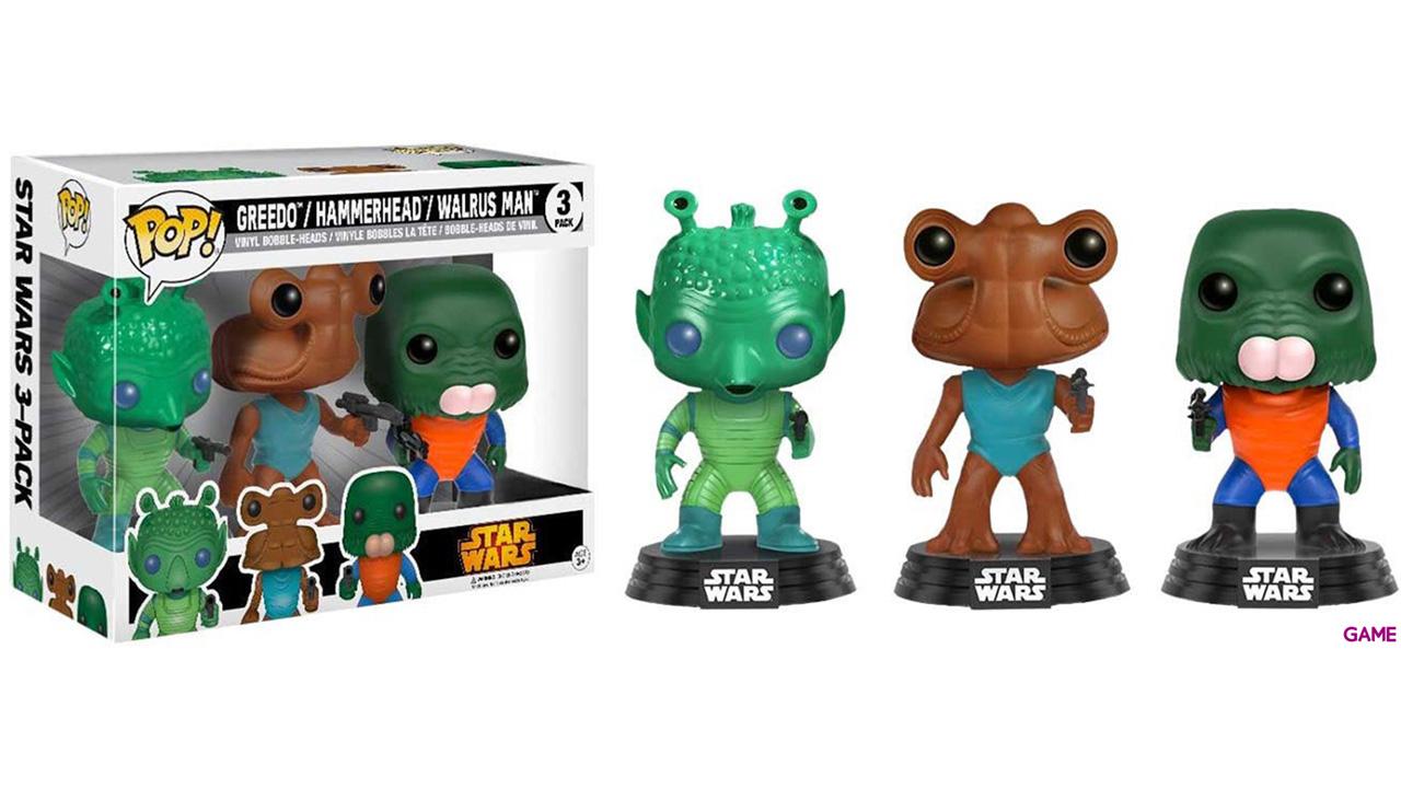 Pack de 3 Figuras Pop Star Wars: Greedo, Hammerhead y Walrus Ed. Limitada