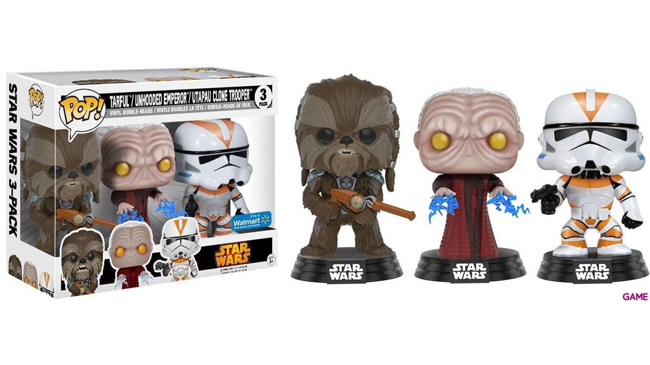 Pack de 3 Figuras Pop Star Wars: Tarfful, Emperador y Utapau Trooper Ed. Limitada