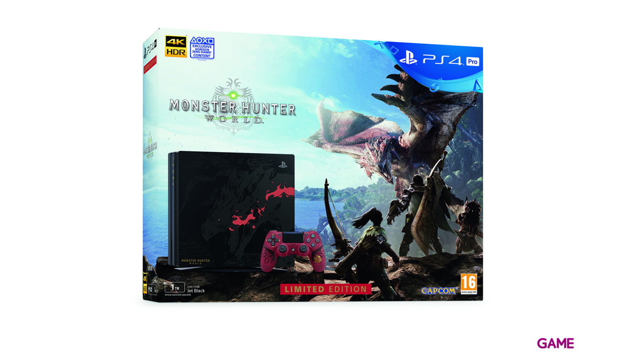Playstation 4 Pro 1Tb Edición Limitada + Monster Hunter World