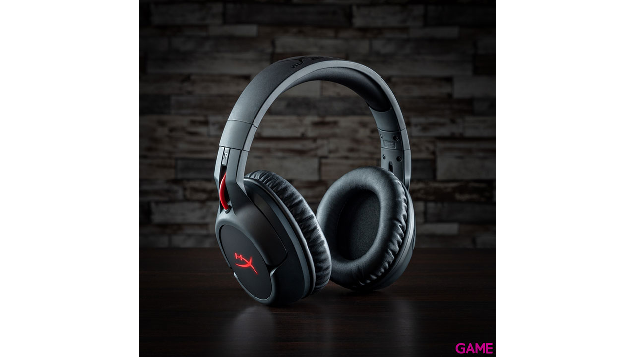 HyperX Cloud Flight Wireless LED Rojo PC-PS4-PS5 - Auriculares Gaming Inalámbricos
